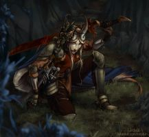 Tiefling Warrior by mirana