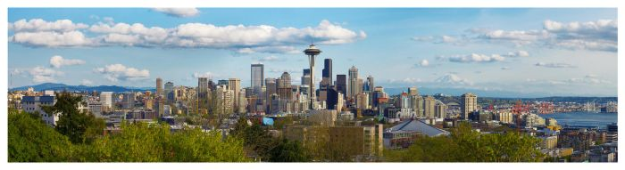 Seattle Panorama by banjoeskimo