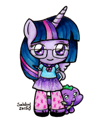 Chibi Princess Twilight Sparkle by SarahsPlushNStuff