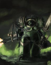 -Nurgle Blightlord- by serbere