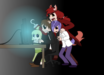 Late night gaming by Gameaddict1234