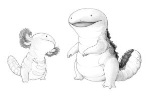 Realistic quagsire and wooper