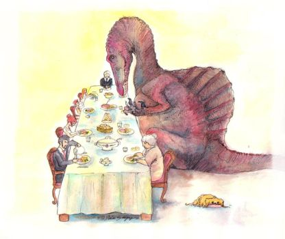 Dining with spinosaurus by carmine-voleme