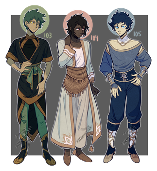 Adopts 103-105 [Auction - Closed] by sandflake-adoptables