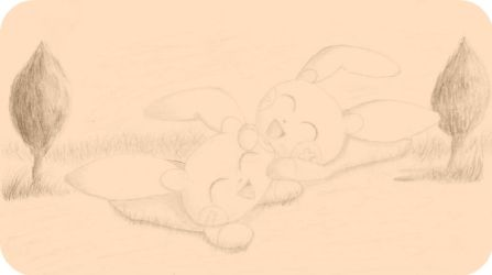 Plusle and Minun by DecemberWildfire