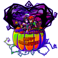 Happy Halloween With Love by Krooked-Glasses