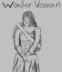 Wonder Woman Sketch by ComicsMaker9000