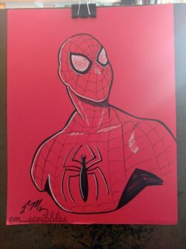 Spidey Bust by em-scribbles
