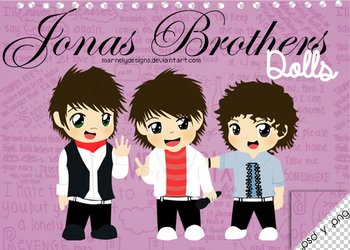 +Dolls l Jonas Brothers {.psd y .png} by MarNelyDesigns