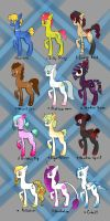 FREE Pony Adopts *CLOSED* by Necromulus