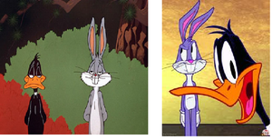 Bugs and Daffy: differences by MarcosPower1996