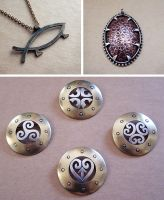 Mixed metal jewelry 2 by Astalo