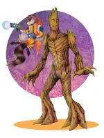 Guardians ROCKET and GROOT