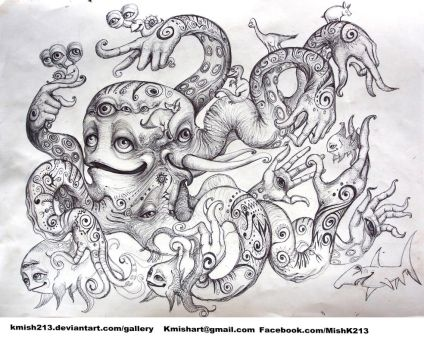 Creatures from Mish Cephalopod with hands by kmish213