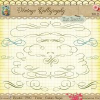 Calligraphy Borders and Ornaments No 2 by starsunflowerstudio