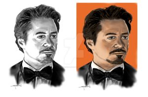 Tony Stark before and after by StevenWilcox