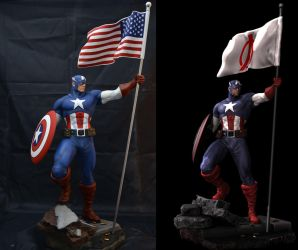 Captain America Digital Sculpt by mufizal