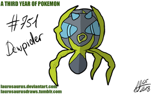 A third year of pokemon: #751 Dewpider