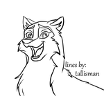 Aleu new lineart by TallyBaby13