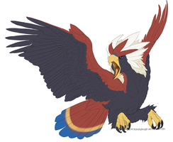 Daily PokeDraws Day 2-Braviary by ZephyrDarksnake