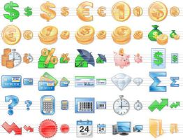 Business Toolbar Icons by Ikont