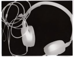 Photogram 01 - Headphones by artisticTaurean