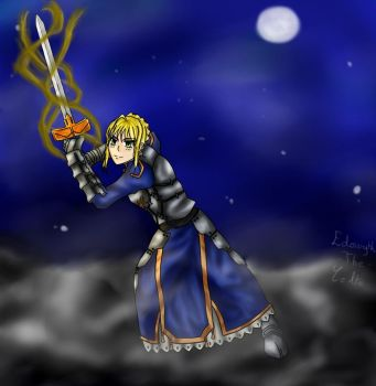 Saber, Arthuria, King of the Britain  [F/S Night] by Edowyth-The-celte