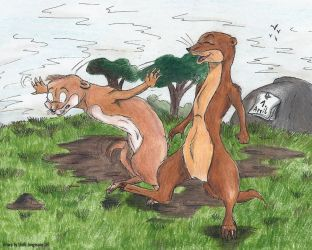 Annoying Weasels by StarlightsMarti