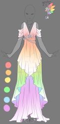 Rainbow Angel - Outfit Design by rika-dono
