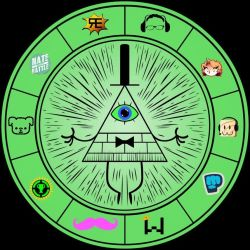 Gravity Falls - Bill Cipher Wheel(Youtube edition) by Alice1Tennant