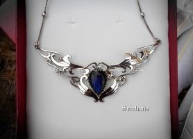 'Goddess of the sea' sterling silver pendant by seralune
