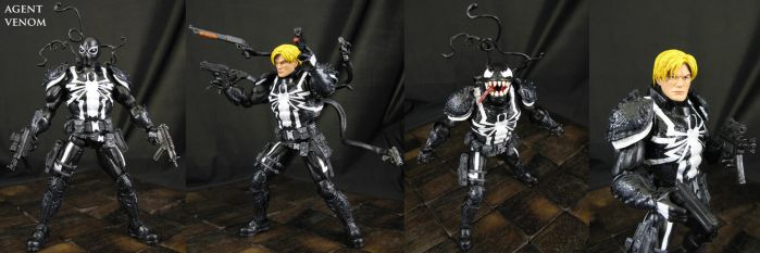 Custom Agent Venom action figure by Jin-Saotome