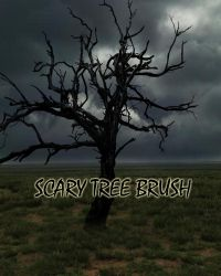 SCARY TREE BRUSH by Moonglowlilly