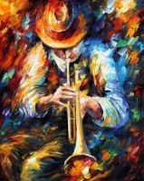 Mood Indigo by Leonid Afremov by Leonidafremov