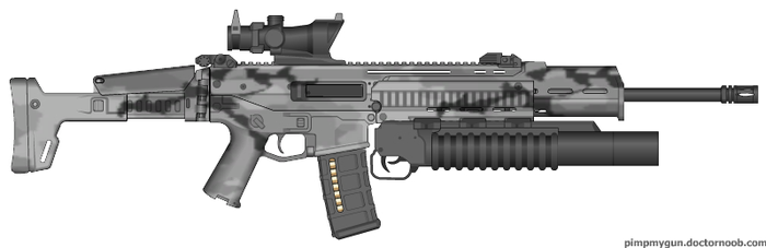 ACR M-203 and ACOG Optical sight by ColtM4A2