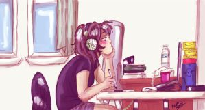 Me At Work by TrueLoveStory