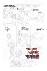 The Good Samaritan page 1 pencils and letters by SAVGuy