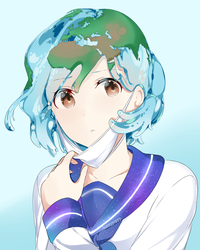 Earth chan! by Sunnypoppy