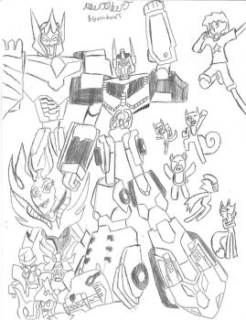 Gridaverse- Megazord Forces by bigtimbears