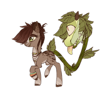 [CLOSED] Primal Plant Pony adopt by llAtlantisWitchll