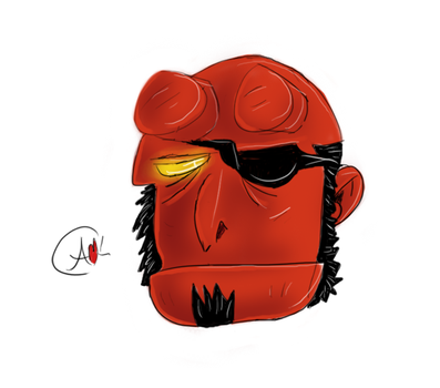 Hellboy's Eyepatch by Autumn-In-April