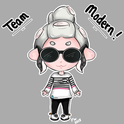 My Octoling GO TEAM MODERN by ForgottenWinds
