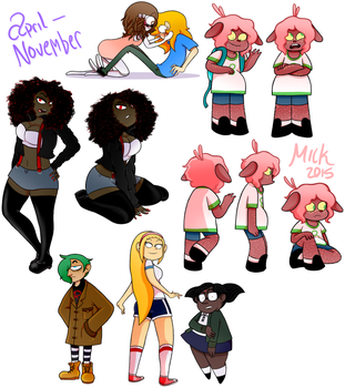 ocs .. n  some char designs by cyclopsette