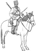 Cossack, Russian Civil War by linseed