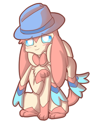 Commission- Fedora Sylveon by pinkeevee222