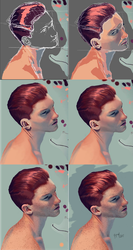 male portrait process by adriaEspinal
