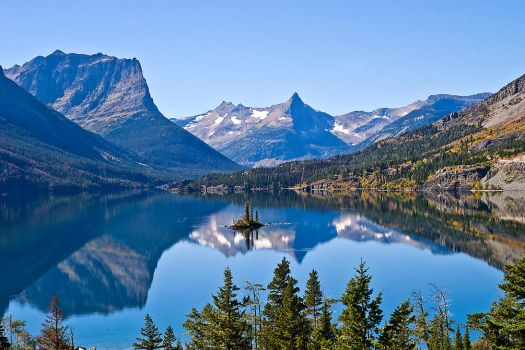 St. Mary Lake and Wild Goose Island by quintmckown