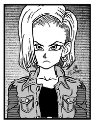 Android 18 Listens To 80's New Wave by Chopfe