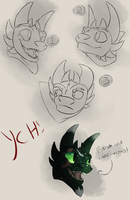 Night Fury Bust YCH (CLOSED) by JAY-WlNG