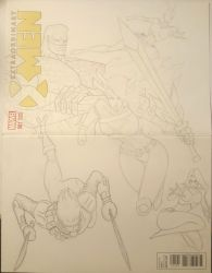 Extraordinary XMen Fan Art Cover Incomplete by junhb74